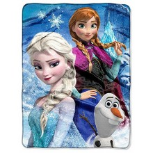 Officially Licensed Diseny Frozen Ice Castle High Definition Silk Touch Throw...