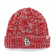 MLB Officially Licensed St. Louis Cardinals Red Prima Womens Cuffed Knit Embroidered Beanie Hat