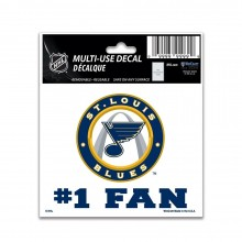 "NHL Licensed St. Louis Blues 4"" X 4"" Perfect Cut Color Decal"