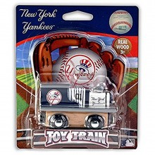 MLB Licensed New York Yankees Wood Toy Train