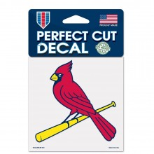 """MLB Licensed St. Louis Cardinals 4"""" X 4"""" Perfect Cut Color Decal"""
