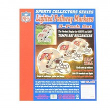 NFL Officially Licensed 3 pack Lighted Pathway Markers (Tampa Bay Buccaneers)