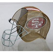 NFL Officially Licensed Football Helmet Bottle and Cork Cage Holder (San Fran...