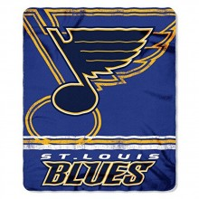 """NHL Officially Licensed St. Louis Blues Shadow Fleece Throw Blanket (50"""" x 60"""")"""