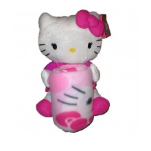 Officially Licensed Hello Kitty Butterfly Character Plush Throw Set