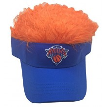 NBA Licensed Visor with Hair Flair Hat Cap (New York Knicks)