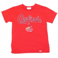 MLB Officially Licensed St. Louis Cardinals Classic Bird on Bat YOUTH T-Shirt