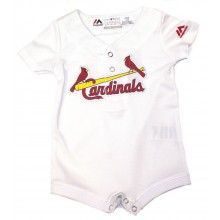 MLB Officially Licensed St. Louis Cardinals INFANT White Jersey Bodysuit