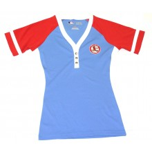 MLB Officially Licensed St. Louis Cardinals Womens Embroidered Powder Blue Shirt