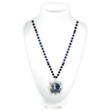 Dallas Mavericks Mardi Gras Spirit Beads With Logo Medallion