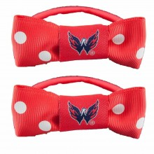 Washington Capitals Bow Pigtail Holders