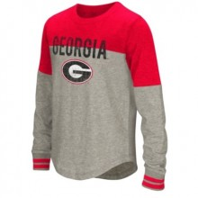 Colosseum University Of Georgia Youth Girls Baton Long Sleeve T-shirt-Red-small