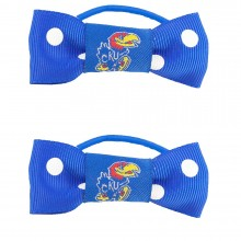 Kansas Jayhawks Bow Pigtail Holders