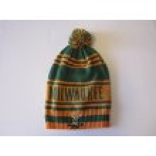 NBA Officially Licensed Milwaukee Bucks Embroidered Stripe Pom Beanie Hat Cap...