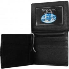 NHL Officially Licensed St. Louis Blues Fine Grain Black Bi-Fold Bill Clip Wallet