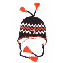 NHL Officially Licensed Philadelphia Flyers Sherpa Lined Tassel Beanie Hat Cap Lid Skull