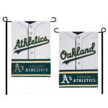 Oakland Athletics 2 Sided Suede Foil Garden Flag