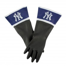 MLB Licensed New York Yankees Latex Dish/Cleaning Gloves