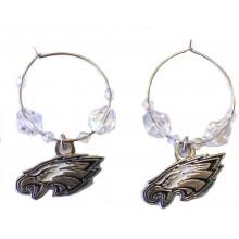 NFL Officially Licensed Philadelphia Eagles Beaded Hoop Earrings