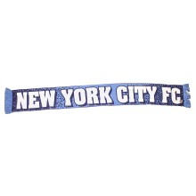 MLS Officially Licensed New York City Football Club Speckled Double Sided Knit Fringe Scarf