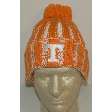 NCAA Officially Licensed Tennessee Volunteers Embroidered Cuffed Pom Beanie Hat Cap Lid Toque by Adidas