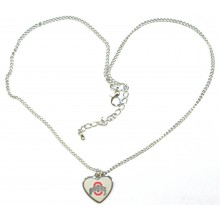 NCAA Officially Licensed Ohio State Buckeyes Heart Logo Chain Necklace