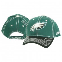 Philadelphia Eagles Contrast Stitch 2-Tone Adjustable Baseball Hat - Green / ...