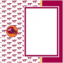 "NCAA Officially Licensed Virginia Tech Hoakies 8"" X 8"" Tapestry Complete Scra..."