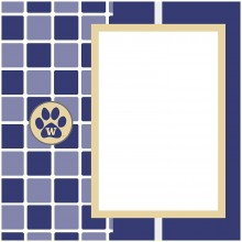 "NCAA Officially Licensed University of Washington Huskies 8"" X 8"" Tapestry Co..."