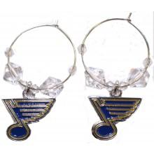 NHL Officially Licensed St. Louis Blues Beaded Hoop Earrings