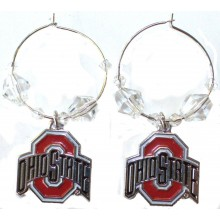 NCAA Officially Licensed Ohio State Buckeyes Beaded Hoop Earrings