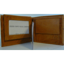 MLB Officially Licensed New York Yankees Embossed Tan Genuine Leather Wallet