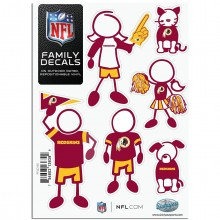 NFL Washington Redskins Small Family Decal Set