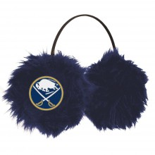 NHL Officially Licensed Buffalo Sabres Embroidered Faux Fur Team Logo Earmuffs Cheermuffs