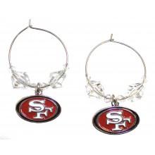 NFL Officially Licensed San Francisco 49ers Beaded Hoop Earrings