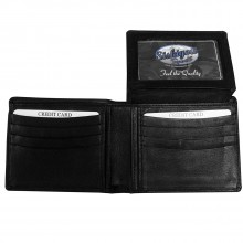 MLB Officially Licensed St. Louis Cardinals Fine Grain Black Bi-Fold Wallet