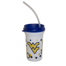 NCAA Licensed Sippy Cup with a Straw (West Virginia Mountaineers)