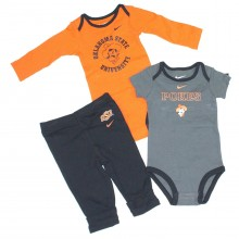 NCAA Licensed Oklahoma State Cowboys 3 Piece Bodysuit and Pant Set