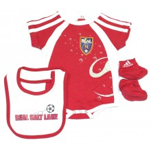 MLS Licensed Real Salt Lake 3 pc. Bodysuit, Bib and Bootie Set