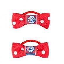 Philadelphia 76ers  Bow Pigtail Holders