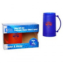 NBA Officially Licensed Freezer Mug 2 Pack: Home & Away H20 Mug Set (New York Knicks)