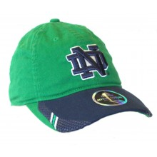NCAA Officially Licensed Notre Dame 2 Tone Embroidered Slouch Fit Hat Cap Lid