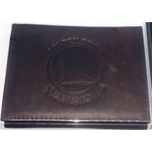 NBA Officially Licensed Golden State Warriors Embossed Dark Brown Tri-Fold Leather Wallet