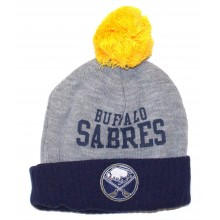 NHL Licensed Buffalo Sabres YOUTH Pom Cuffed Beanie