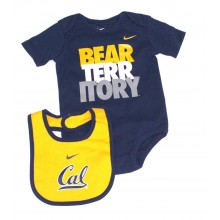 NCAA Licensed California Golden Bears 2 Piece Bodysuit and Bib Set