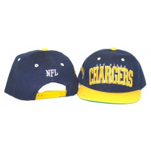 NFL Officially Licensed Embroidered San Diego Chargers 2-Tone Flatbill Hat Cap Lid