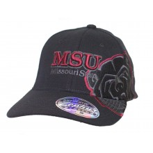 NCAA Licensed Missouri State University Black Bears Stretch Fit Baseball Hat Cap Size