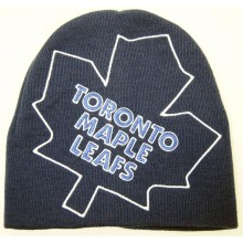 NHL Officially Licensed Hyper Logo Embroidered Beanie Hat Cap Lid (Toronto Maple Leafs)