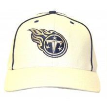Tennessee Titans Licensed Tan with Navy Piping Structured Fit Hat Cap Lid