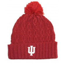 NCAA Officially Licensed Indiana Hoosiers Cuffed Cable Knit Pom Beanie Hat Cap Lid